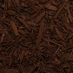 Dark Brown Dyed Mulch